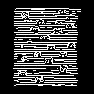 Linien mit Hunden