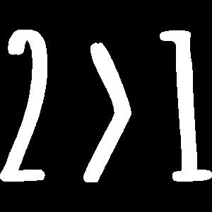 2> Mehr als 1 Math Prof Algebra Science Humor