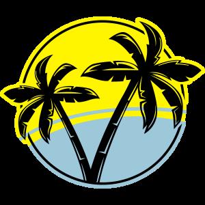 palme silhouette kreis strand