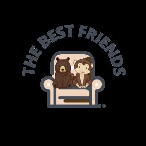 Teddybär und Affe sind beste Freunde fürs Leben