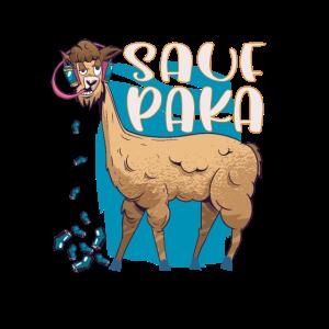 Saufpaka Alpaka Motiv Shirt Alpaca Bild Shirt Fun