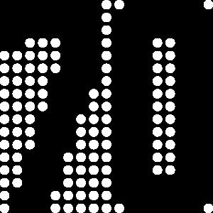 70, 70er, Pixel, Punkte, Display