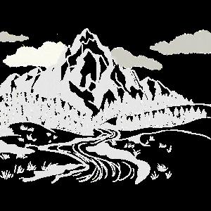 Landschaft in Weiß