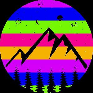 Berg Planeten retro