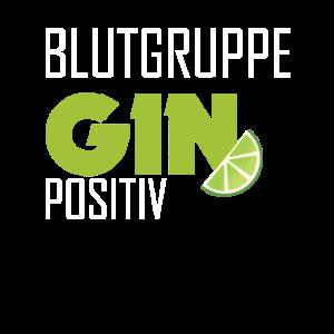 Blutgruppe Gin Positiv Alkohol Saufen Geschenk