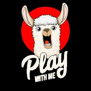 Play With Me | Lama Alpaka Humor Anime Japan Style