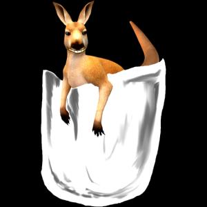 känguru in der tasche