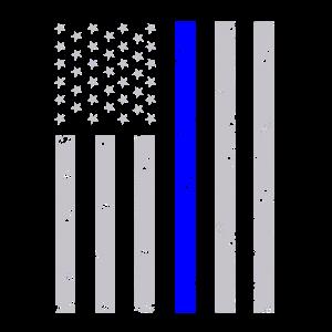 Dünne blaue Linie Flagge Polizisten