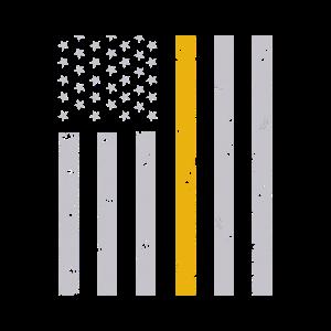 Distressed Dispatcher mit dünner goldener Linienflagge