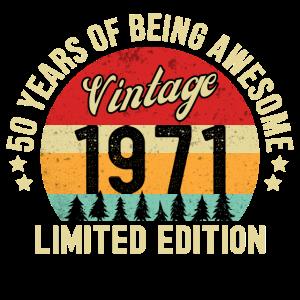 50. Geburtstag Vintage 1971