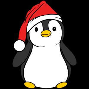 Pinguin mit Weihnachtsmütze