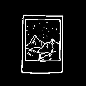 Berge unterm Sternenhimmel