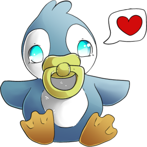 Baby Pinguin mag umarmt werden