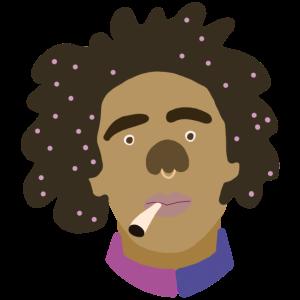 Raggae Afro Smoking Piercing - Illustration