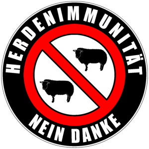 Herdenimmunität NEIN Danke Button Stoppschild