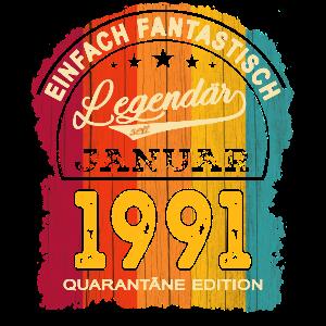30. Geburtstag 30 Jahre Jahrgang 1991 Januar