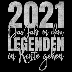 Rentner 2021 Legende Rente Ruhestand Geschenk