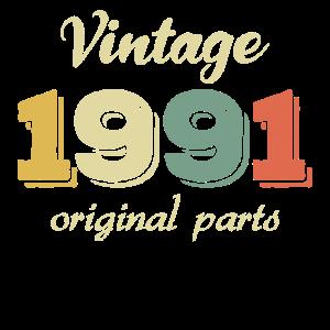 30. Geburtstag Vintage 1991 Retro Originalteile