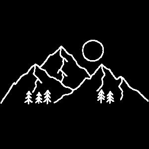 Berglandschaft hell