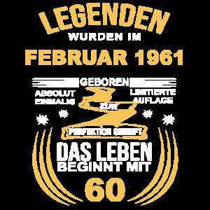 60 Geburtstag Herren Damen Februar 1961 60ter