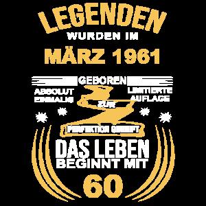 60 Geburtstag Herren Damen März 1961 60ter