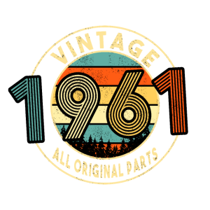 60. Geburtstag 1961 Vintage