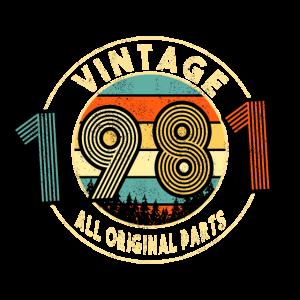 40. Geburtstag 1981 Vintage