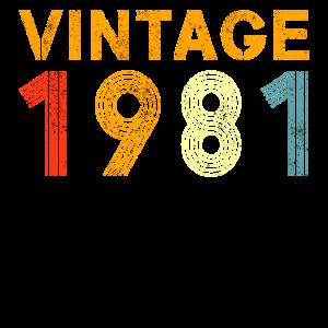 40. Geburtstag Vintage 1981