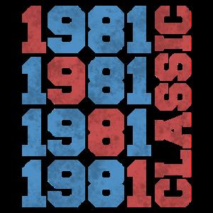 1981 40 Jahre alt 40. Geburtstag Geschenkidee