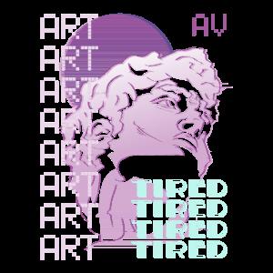 Tired - Vaporwave Aesthetik Kunst Style Retro