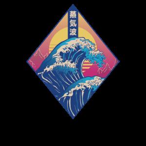 Japanese Big Wave Vaporwave Aesthetik Style