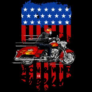 Iron & Wind is Freedom - Bikershirt