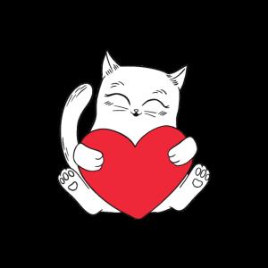 Katze Herz Tierlieb / Cat Love