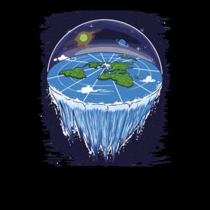 Flat Earth Flache Erde Geschenk