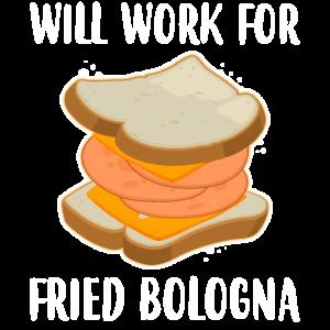 Quatsch Sandwich Sandwich Arbeit für gebratenen Bologna Druck