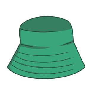 Eimer Hut Aufkleber