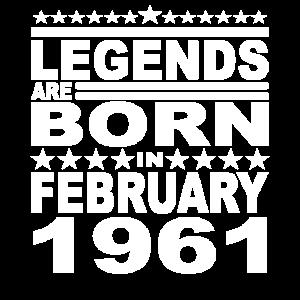 Legendär seit Februar 1961 Jahr 1961 Geburtstag