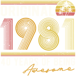 Original 1981 Jahrgang Geburtstag Retro Geschenk