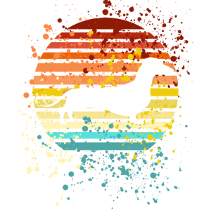 Dackel Dackelhund Silhouette Retro Geschenk