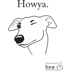 Howya Greyhound in black