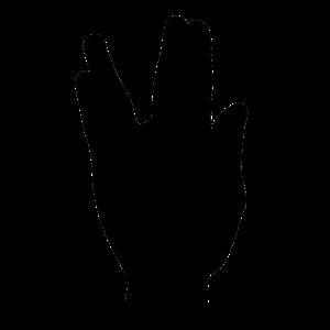 Vulkanier Gruß Hand