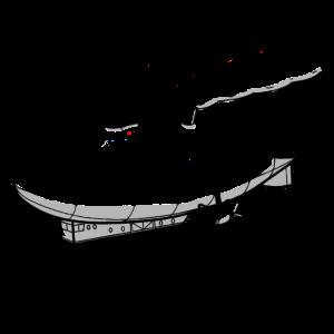 Steam Powered Steampunk Luftschiff (Schwarze Gliederung)