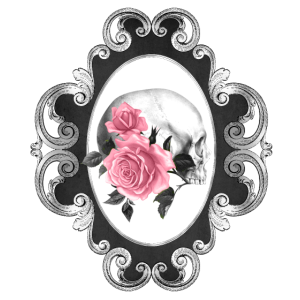 Blumen Gothik goth Totenkopf Tod Skull Punk