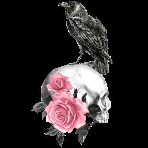 Raben Gothik goth Totenkopf Tod Skull Punk
