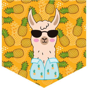 Geschenk lustig falsche Tasche lama ananas