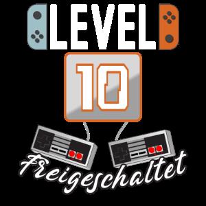 Level 10. freigeschaltet Gamer Geschenkidee