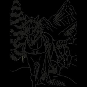 Pferde Bild ausmalen bemalen zeichnen anmalen