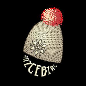 Winter im Erzgebirge, Druck Strick - Look Mütze