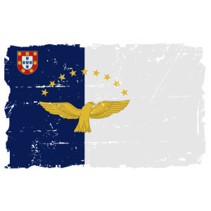 Flag of Azores - Azoren Flagge - shabby look