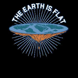 Die Erde ist Flach Verschörungstheoretiker Motiv